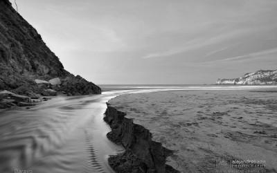 """Playa de Barayo, Anochecer y """"Alunacer"""""""