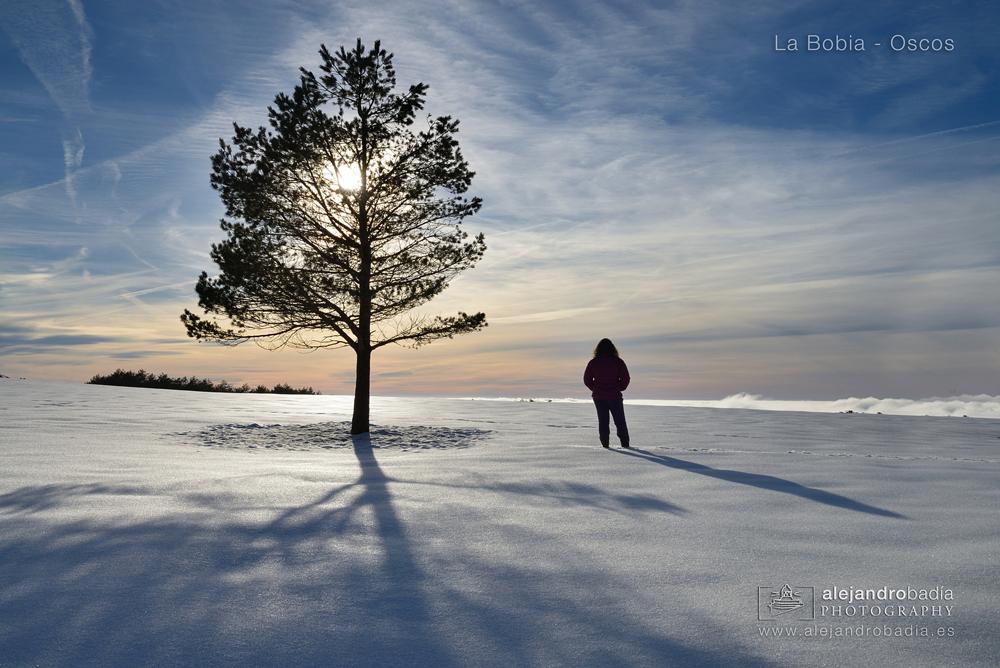 Atardecer invernal en la Bobia