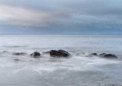 sea at dusk